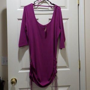 NWT Pink/magenta side cinch tunic